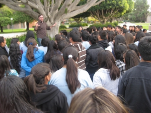 students from RJ Frank Intermediate School in Oxnard visited UCSB campus on December 2, 2010