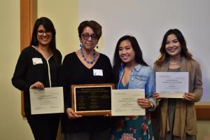 Paula Beltran, Michelle Jocson-Macrohon, and Sirenia Sanchez, Garcia Award Winners