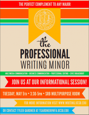 Professional Writing Minor info session flyer